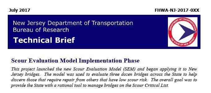Bridge Scour Project | John A  Reif, Jr  Department of Civil